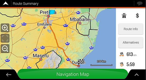 south africa igo maps download