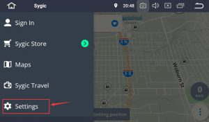 sygic maps settings