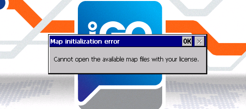 Solution: Unable To Open Maps With Your License After Igo Maps Update