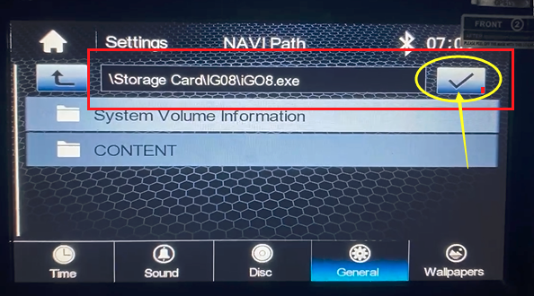 igo navi path setting