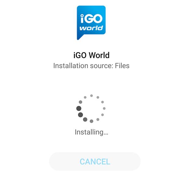 igo navigation apk install